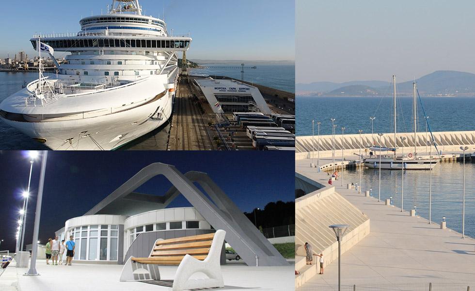 Новото пристанище на Бургас