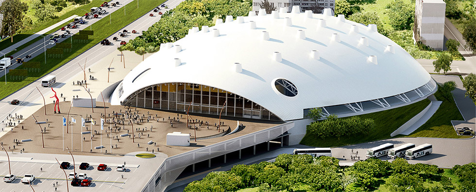 Проект на спортна зала Арена Бургас