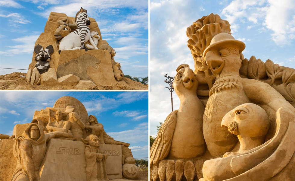 Sand figures in Burgas
