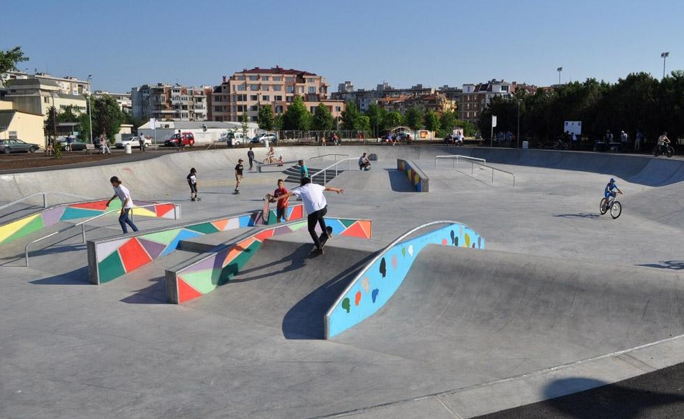 Skate park in Burgas
