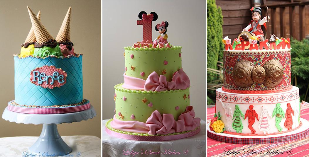 3 вида детски торти