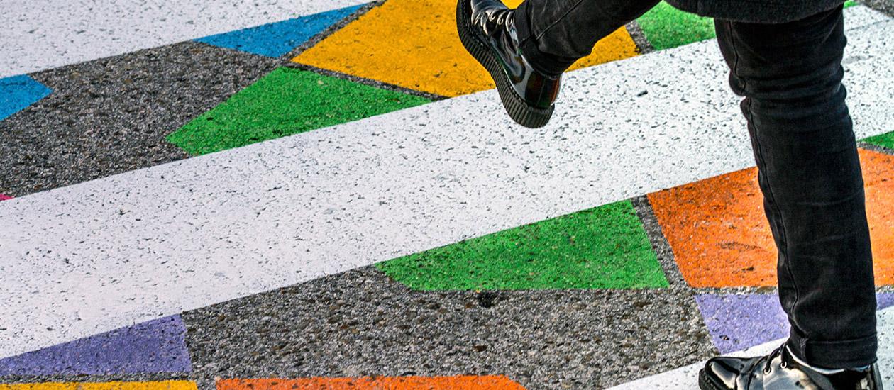 Цветни пешеходни пътеки в Мадрид