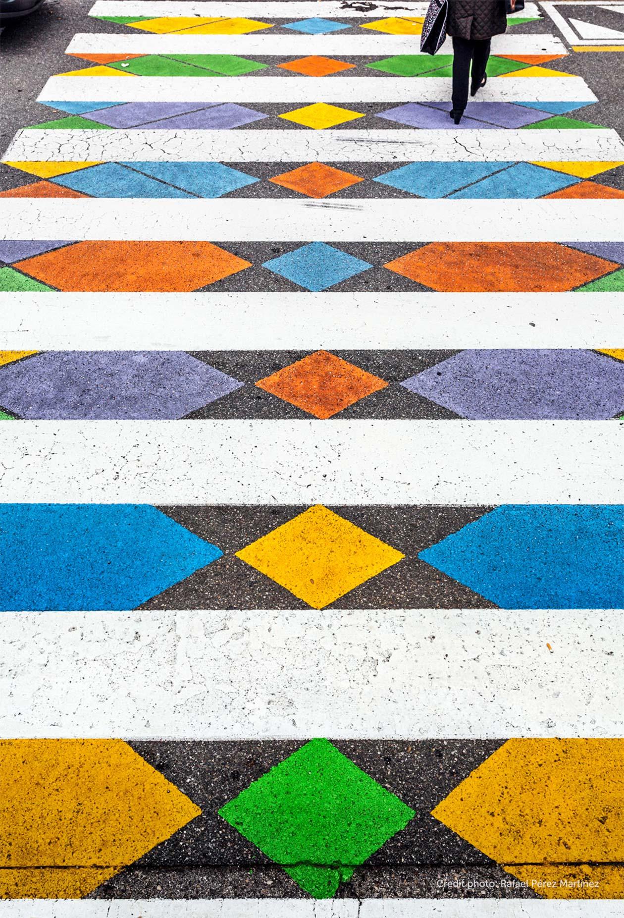 Пешеходна пътека като изкуство
