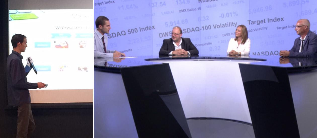 Българска компания дава интервю в телевизията