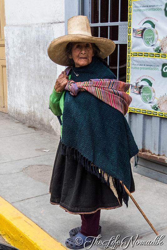 Възрастна жена от Перу