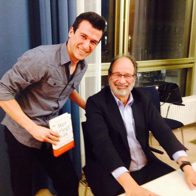 Александър и Нобеловият лауреат по икономика Ал Рот в Берлин (март 2016)