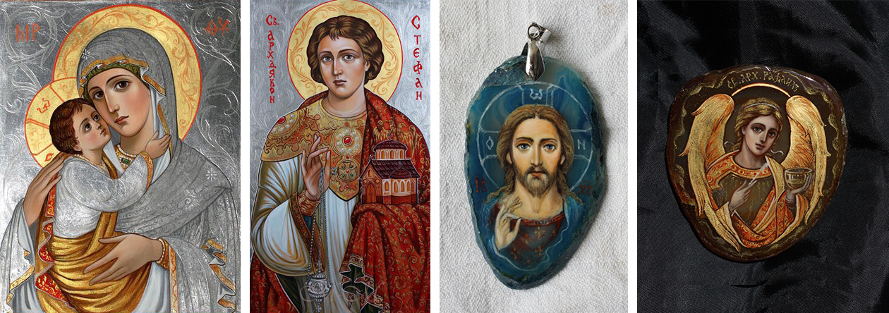 Icons of the Virgin and Child, St. Stephen's and Jesus Christ
