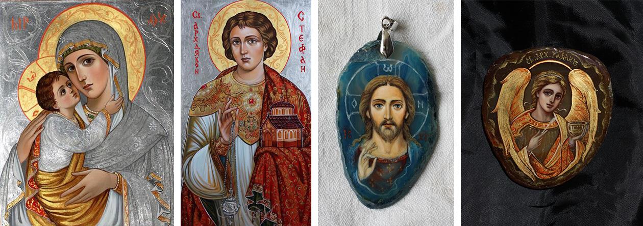 Икони на богородица с младенеца, Св. Стефан и Исус Христос