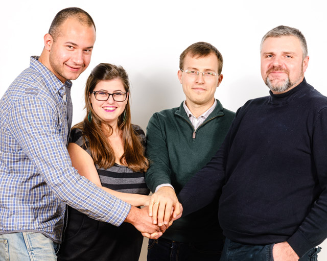 Ясен Русев, Елена Николова, Искрен Митев и Манол Новаков от фирма Escreo