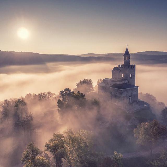 Велико Търново, крепостта Царевец от дрон