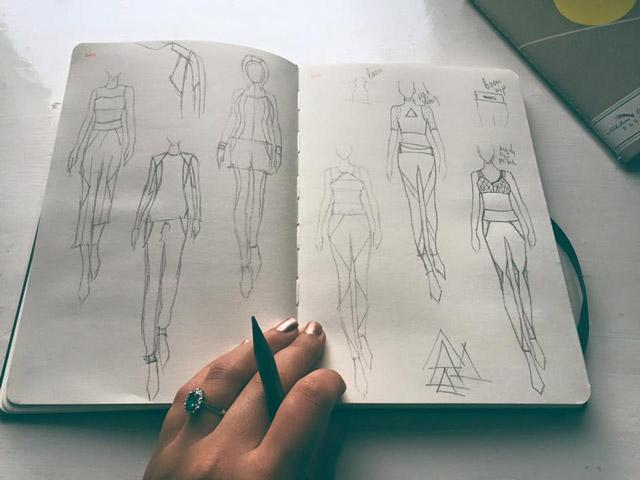 дизайн и скициране на облекла