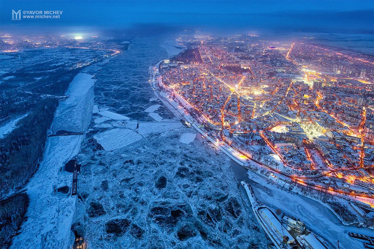 Дрон фотография през зимата
