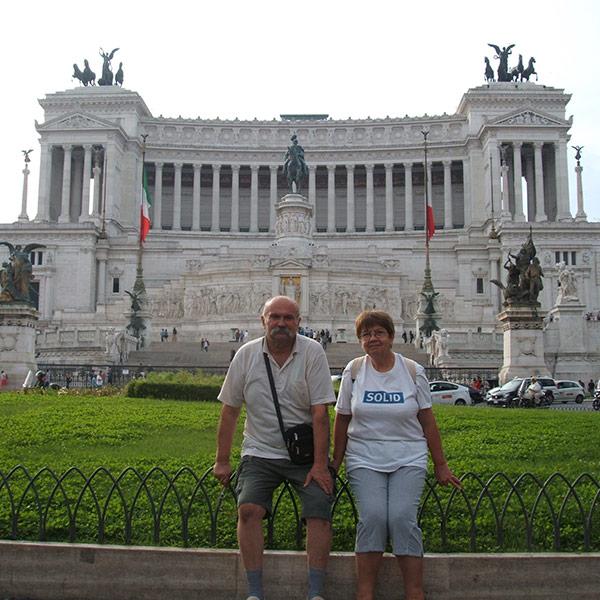 Полина Руневска със съпруга си в Лондон