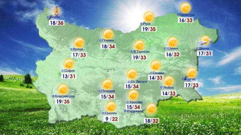 Прогноза за Времето в България