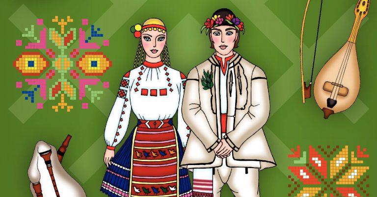 Книжка за оцветяване с български народни носии
