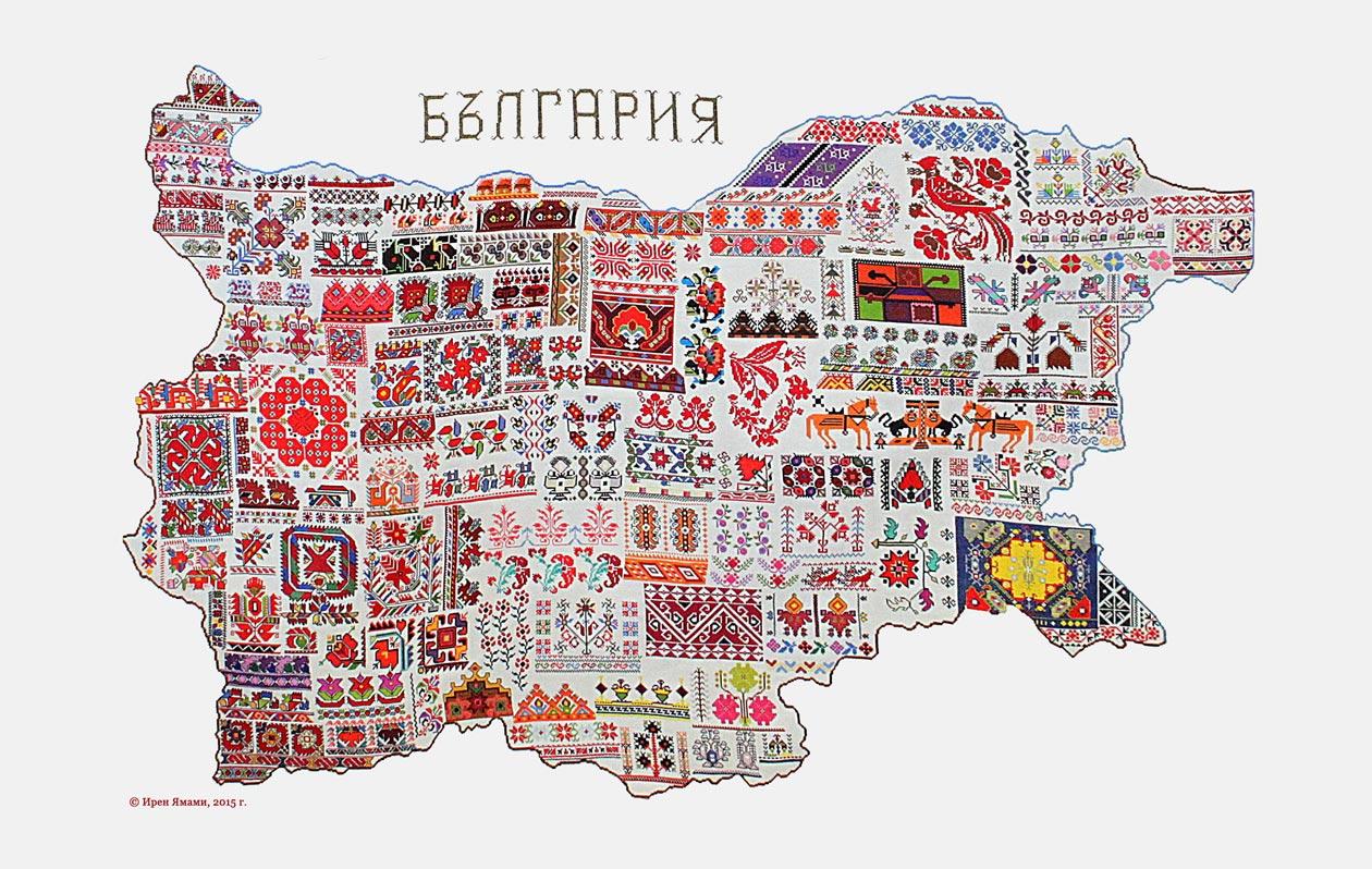 Карта на България в шевици