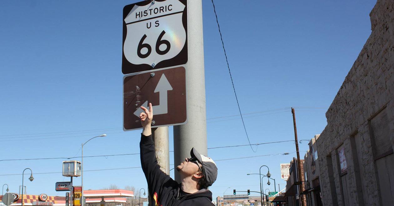 Магистрала 66 в Америка Сащ