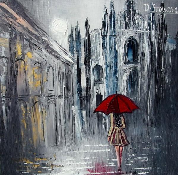 картина италия в дъжд
