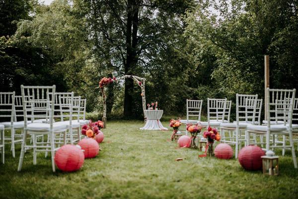 градинско парти на сватба