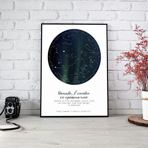 Звездна карта плакат