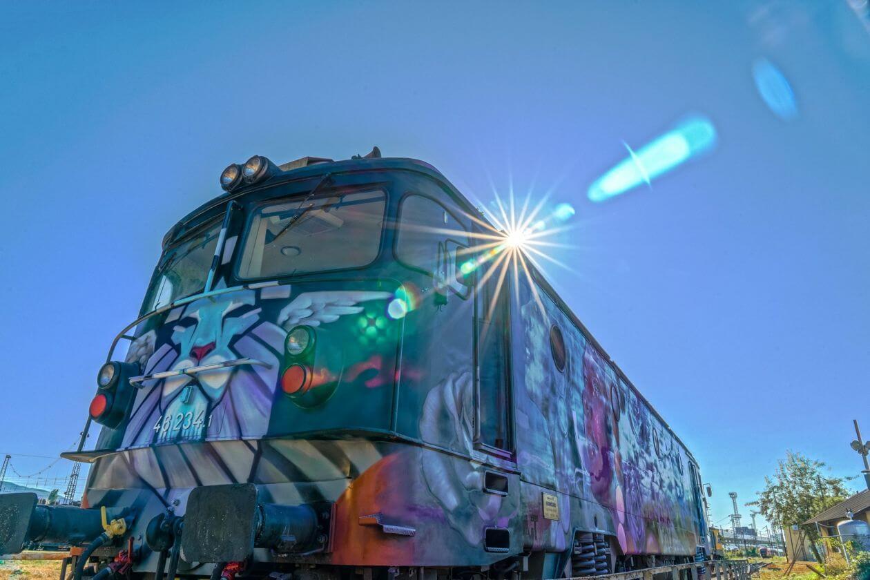 влак графити